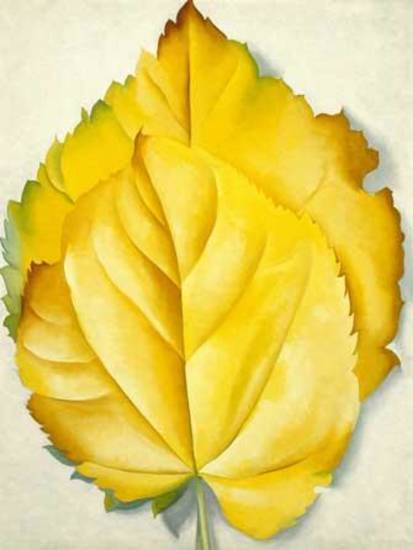 "Georgia O'Keeffe's 1928 painting ""2 Yellow Leaves (Yellow Leaves)"" is part of the ""American Moderns"" exhibit now on view at the Oklahoma City Museum of Art."