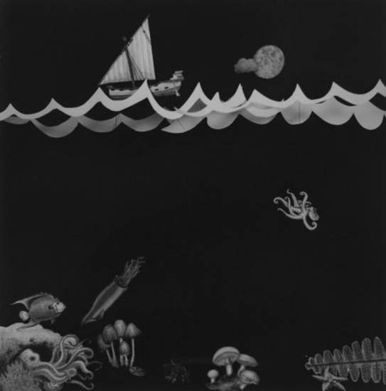 "Kelsey Karper's ""Pursued by an Octopus"" is featured in the Oklahoma Visual Arts Coalition's 2012 12x12 Fundraiser."
