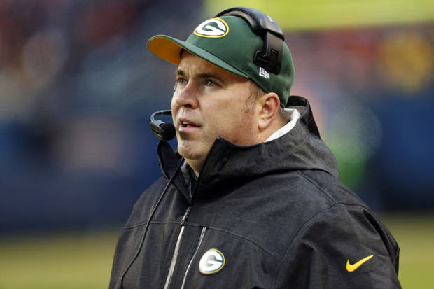 Green Bay Packers head coach Mike McCarthy watches from the sideline in the second half of an NFL football game against the Chicago Bears in Chicago, Sunday, Dec. 16, 2012. The Packers won 21-13 to clinch the NFC North title. (AP Photo/Charles Rex Arbogast)