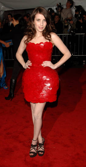 Actress Emmy Rossum arrives at the Metropolitan Museum of Art's Costume Institute Gala in New York, on Monday, May 4, 2009. (AP Photo/Peter Kramer) ORG XMIT: NYJC110