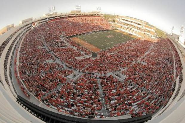 A sea of orange at Boone Pickens Stadium