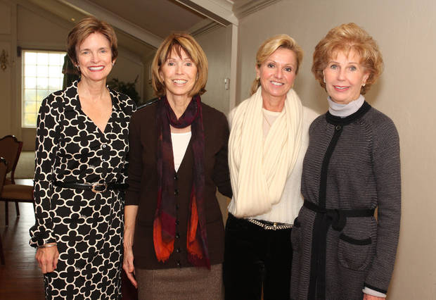 Polly Nichols, Joan Frates, Sherri Kite and Sarah Hogan enjoy a luncheon honoring past Winter Ball chairmen.