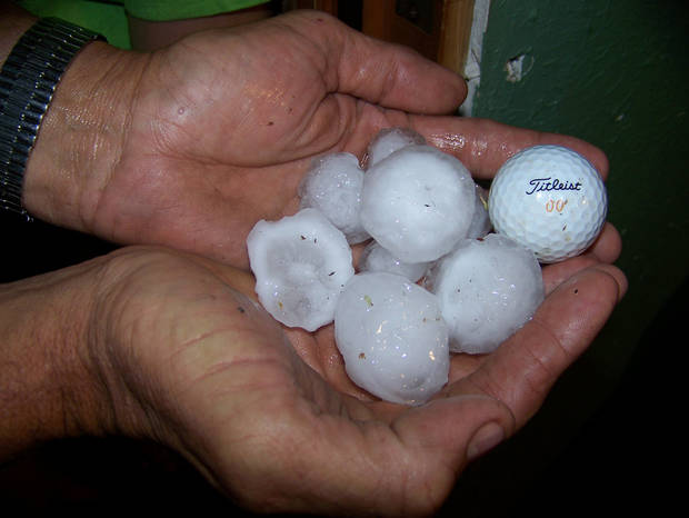 golf size hail in Elk City, OK 5/19/12