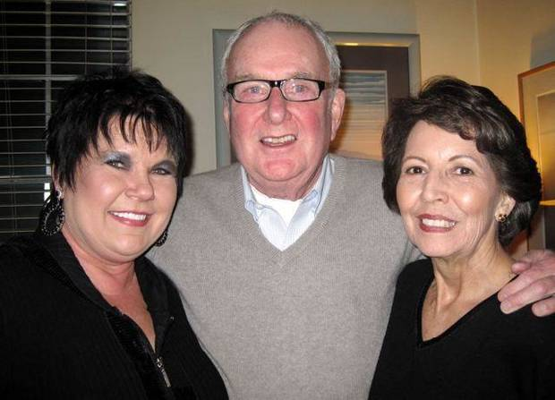 CAUSE TO CELEBRATE...Denise Smith, Bill Phillips and Ruth Ann Pierson  were at the Epiphany Party on Jan. 6th. (Photo by Helen Ford Wallace).