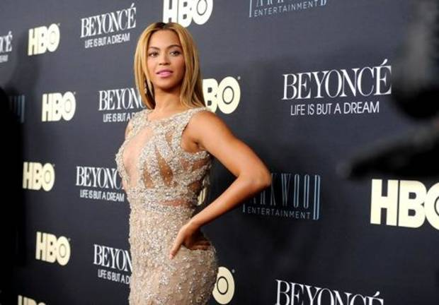 "This image released by Starpix shows Beyonce at the premiere of her HBO documentary "" Beyonce: Life is But a Dream,"" at the The Ziegfeld Theatre in New York. The film premieres on Saturday, Feb. 16, at 8 p.m. on HBO. (AP Photo)"
