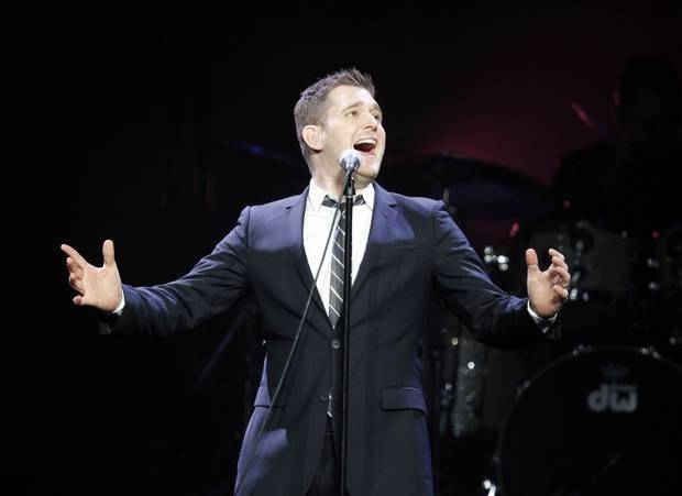 Michael Buble sings during his Crazy Love tour, Wednesday, Nov. 8, 2010, at the Oklahoma City Arena in Oklahoma City . Photo by Sarah Phipps, The Oklahoman Archives