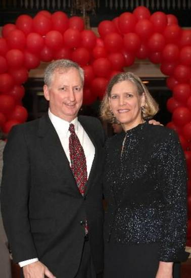 Richard and Karen McLain are seen at the Oklahoma City Golf & Country Club Valentine's Day evet. Photo by David Faytinger