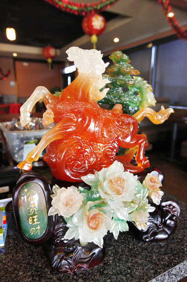 Part of the decor at Szechuan Bistro, 1010 W Memorial Road, in Oklahoma City. <strong>PAUL B. SOUTHERLAND - THE OKLAHOMAN</strong>