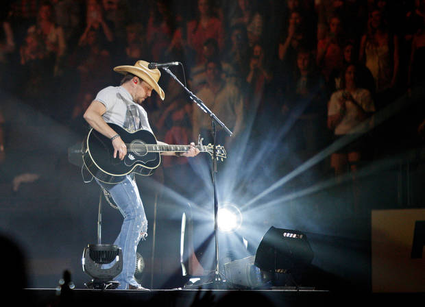 Country music superstar Jason Aldean performs in February at Chesapeake Energy Arena in Oklahoma City.  Aspiring country singer Kylie Morgan, 17, of Newcastle, got to open for a date on Aldean�s tour on the reality TV series �Opening Act.� Photo by Bryan Terry, The Oklahoman Archives