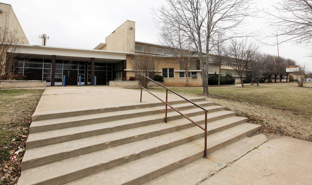 The old John Marshall High School at 9017 N  University in Oklahoma City is for sale by the school district. Photo by Nate Billings, The Oklahoman