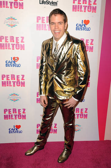 FILE - In this March 27, 2010 file photo, Perez Hilton arrives at  Perez Hilton's birthday party in Los Angeles. (AP Photo/Katy Winn, file) ORG XMIT: NYET210