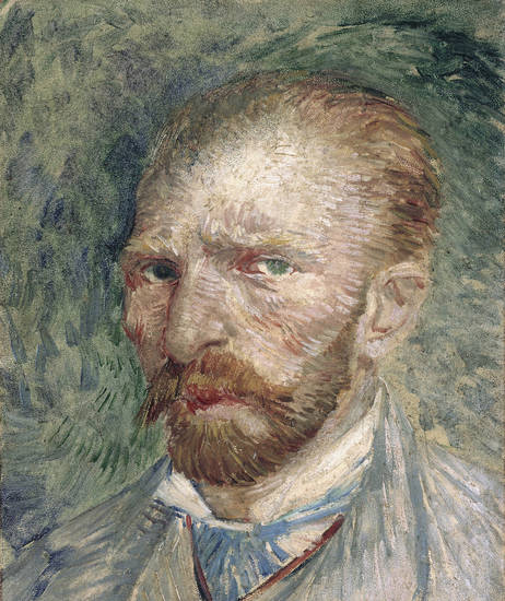 An 1887 self-portrait by Vincent Van Gogh.