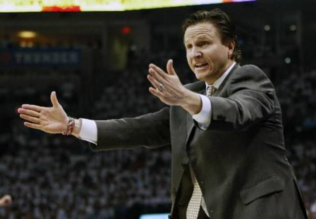 The Thunder picked up coach Scott Brooks' contract option Tuesday, retaining him through the 2011-12 season
