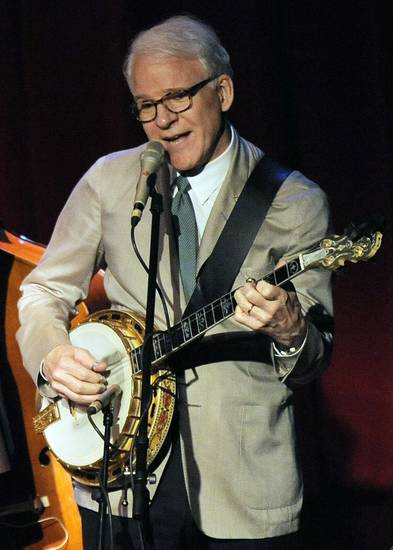 FILE - In this March 19, 2010 file photo, Steve Martin performs with the Steep Canyon Rangers band at Largo at the Coronet Theatre in Los Angeles. Martin is set to perform from the U.S. Capitol�s west lawn during the annual �A Capitol Fourth� concert this year. Josh Groban, Little Richard, �Glee� star Matthew Morrison, �American Idol� winner Jordin Sparks and Broadway star Kelli O�Hara also share the bill.is set to perform from the U.S. Capitol�s west lawn during the annual �A Capitol Fourth� concert this year. Josh Groban, Little Richard, �Glee� star Matthew Morrison, �American Idol� winner Jordin Sparks and Broadway star Kelli O�Hara also share the bill. (AP Photo/Chris Pizzello, File)