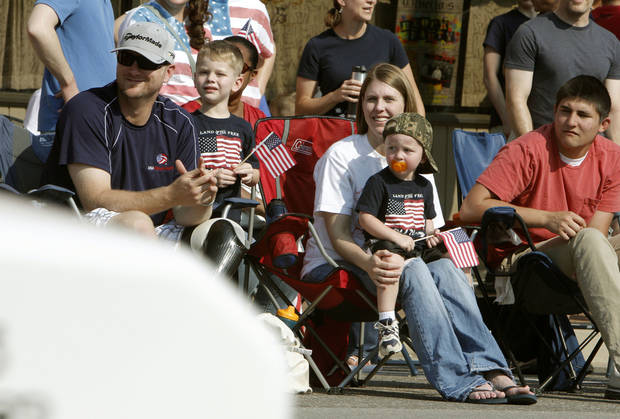 Thousands turn out for the annual LibertyFest Fourth of July Parade in downtown Edmond, OK, Thursday, July 4, 2013,  Photo by Paul Hellstern, The Oklahoman