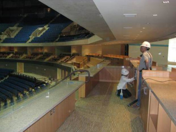 Inside the loge seat area at BOK Center in Tulsa
