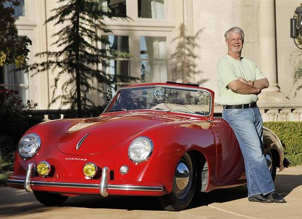 A 1952 Porsche 356 Cabriolet owned by Dr. Robert Wilson is the oldest surviving Porsche sold in America according to Porsche. It was rescued from a salvage yard and restored. Wednesday, Oct. 27, 2010. Photo by Doug Hoke, The Oklahoman.