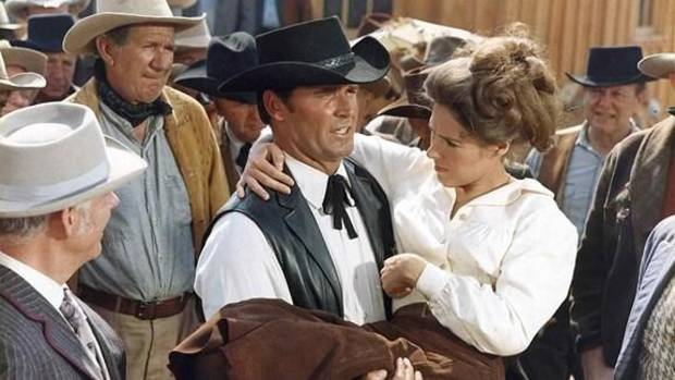 """Oklahoma native James Garner and Joan Hackett appear in """"Support Your Local Sheriff!"""" Photo provided"""