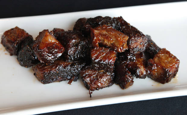 The Smokin' Okie's burnt ends are served weekends at the Coach's in Bricktown. <strong>David McDaniel - The Oklahoman</strong>