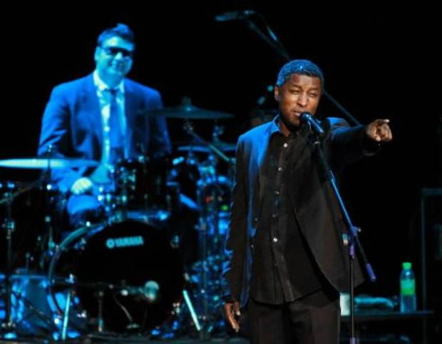 Babyface performing during a concert in Malaysia. (AP photo)