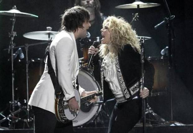 The Band Perry performs.