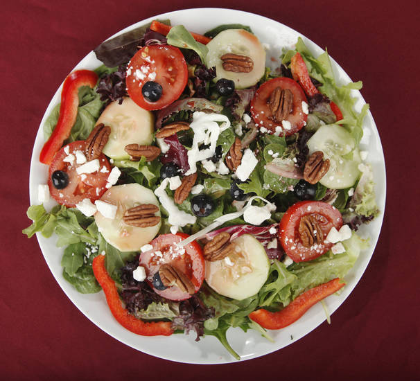 Healthy salads, with greens, OPUBCO studio, Monday, July 16, 2012. Photo by Doug Hoke, The Oklahoman.