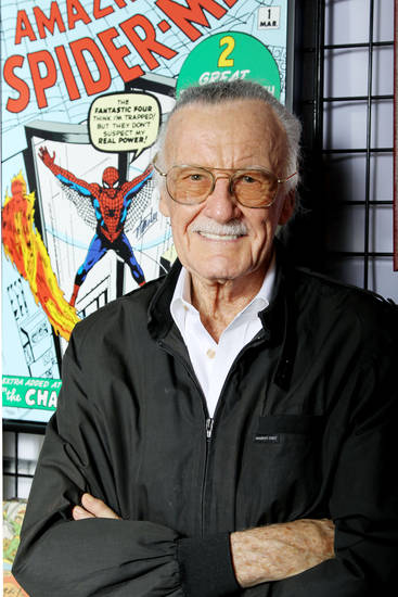 This image released by Starpix shows Marvel Comics scribe and film producer Stan Lee at a special signing, hosted by Choice Collectibles, a publisher of Marvel fine art, during New York Comic Con, Friday, Oct. 12, 2012 at Jacob K. Javits Convention Center in New York. The hand-signed artwork is available for sale during New York Comic Con and at MarvelFineArt.com. (AP Photo/Starpix, Marion Curtis)
