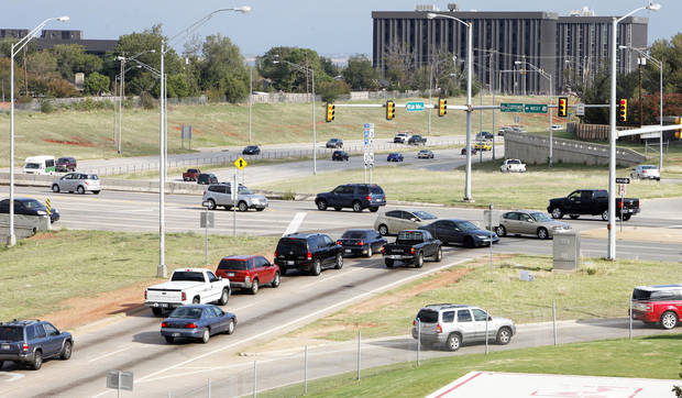 NW Expressway and Lake Hefner Parkway intersection in Oklahoma City Wednesday, Sept. 26, 2012.  Photo by Paul B. Southerland, The Oklahoman