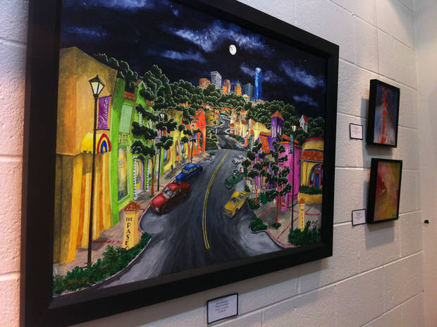 Paseo Moonlight by local artist Steve Whitfield, displayed in Paseo Originals Art Gallery. PHOTO BY RACHAEL CERVENKA