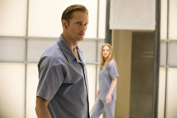 "Alexander Skarsgard, and Kristin Bauer von Straten are shown in a scene from the fifth episode of Season Six of ""True Blood.""- Photo by John P. Johnson/Courtesy of HBO"