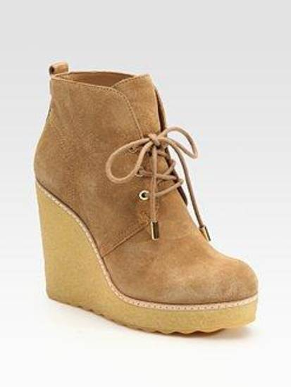 Tory Burch suede wedge bootie, $350.