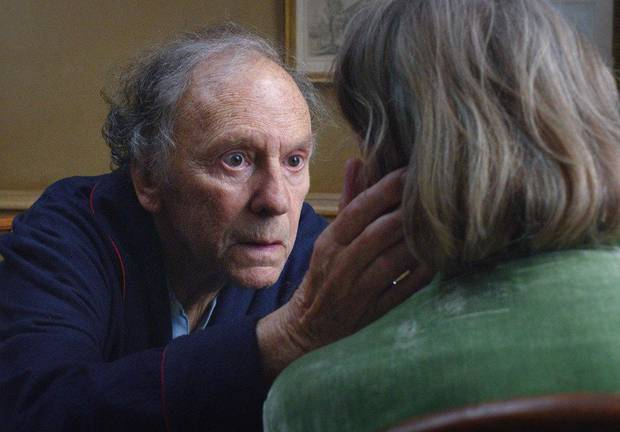Jean-Louis Trintignant, left, and Emmanuelle Riva star in �Amour.� Sony Pictures Classics photo