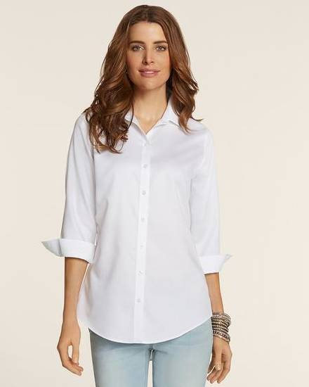 "Chico's no iron ""effortless shirt."