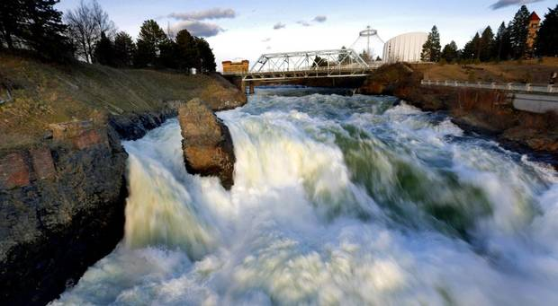 Falls at the Riverfront Park in downtown Spokane. Photo by Sarah Phipps, The Oklahoman