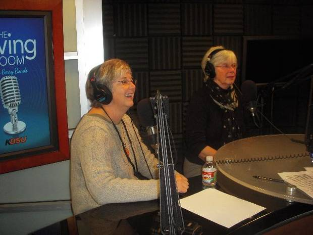 "From left, Ann Denney and Pat Hoerth are shown as guests of ""The Living Room with Gerry Bonds."" - Provided Photo"