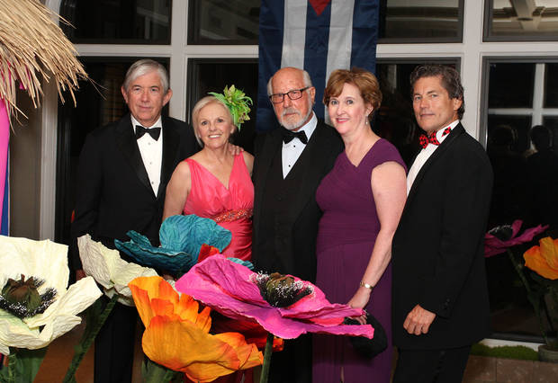 Frank and Bettye Jo Hill, Gene Rainbolt and Cynda and Larry Ottaway party at the Renissance Ball.