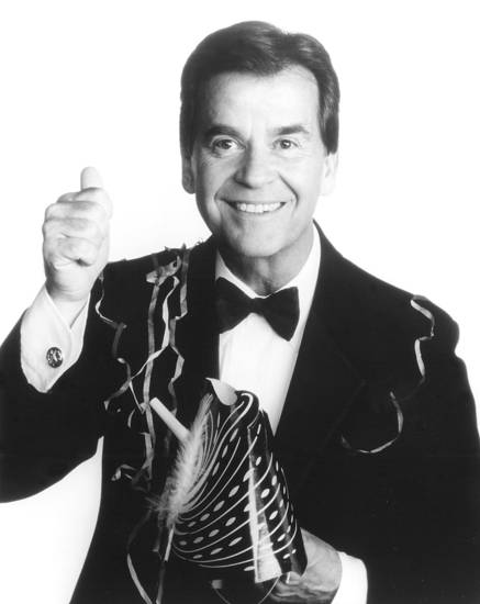 "Dick Clark, host of ""Dick Clark's New Year's Rockin' Eve 2001"" TV show"