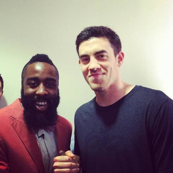 Thunder reserves James Harden and Nick Collison from Collison's Twitter account