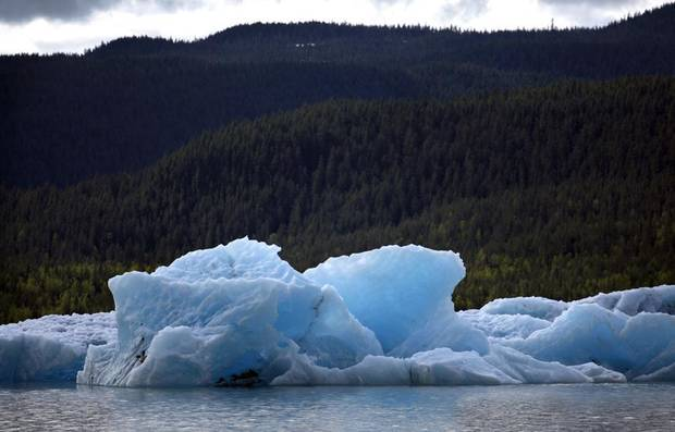 Ice bergs in Juneau, Alaska, Saturday, June 2, 2012.  Photo by Sarah Phipps, The Oklahoman
