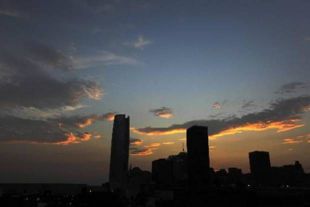 The Oklahoma City skyline, Tuesday, July 10, 2012. Photo by Garett Fisbeck, The Oklahoman