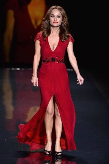 Giada de Laurentis wears a dress by Carolina Herrera during the Red Dress show in New York. Getty Images