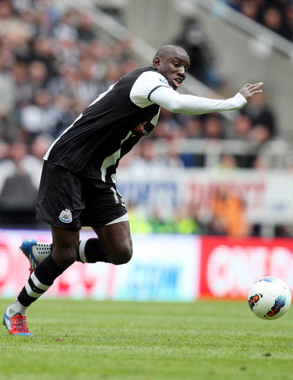 <p>Newcastle United's Demba Ba, is seen during their English Premier League soccer match against Manchester City at the Sports Direct Arena, Newcastle, England, Sunday, May 6, 2012. (AP Photo/Scott Heppell)</p>