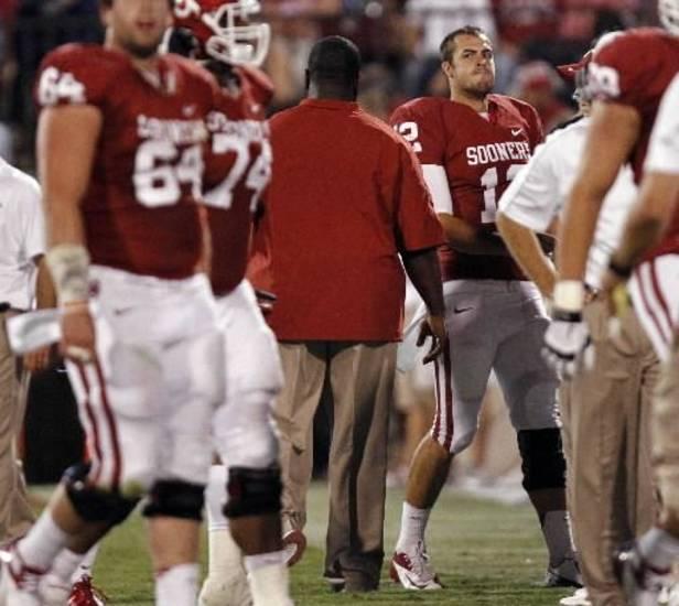 Oklahoma quarterback Landry Jones (Photo by Chris Landsberger, The Oklahoman)