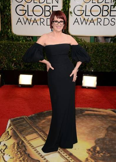 Megan Mullally walks the red carpet at the Golden Globe Awards last month. (AP file)