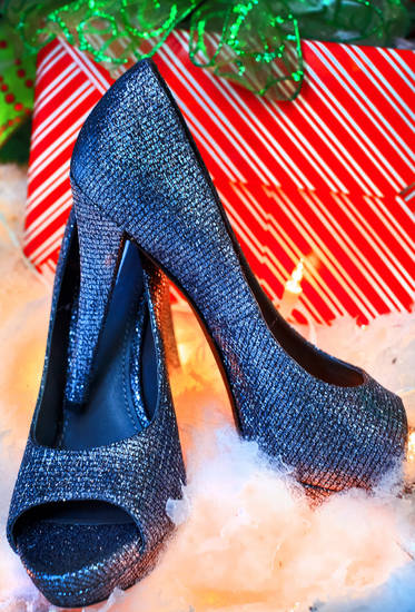 Vera Wang glitter pumps, from CK & Co. Photo by Chris Landsberger, The Oklahoman <strong>CHRIS LANDSBERGER</strong>