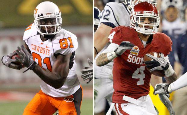 Oklahoma receiver Kenny Stills took to Twitter on Tuesday to stick up for fellow Sooner receiver Ryan Broyles and had some criticism of Oklahoma State receiver Justin Blackmon. (Oklahoman Archive Photos)