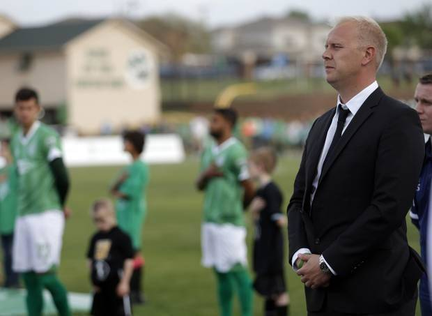 Jimmy Nielson is 2-4-0 in his first season as a professional soccer coach. Photo by Sarah Phipps, The Oklahoman