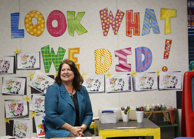 Carol Ertman taught at Ferris School before it closed; now she is a teacher at Lane School. About 50 students transferred to Lane Public School after their former school, Farris School, was annexed by Lane in Atoka County.   Photo taken  March 1, 2013. Photo by Jim Beckel, The Oklahoman