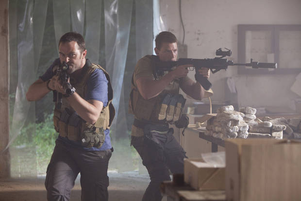 "From left, Sullivan Stapleton and Philip Winchester of ""Strike Back"" - Cinemax Photo"