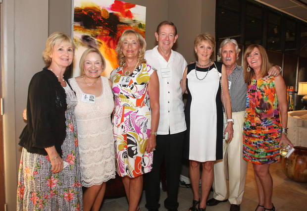 Terry Sinclair, Christa Chain, Cindy and Mike Biddinger, Helen Dailey, Steve and Cathy Haggard were at the Harding High School Class of 1967 Reunion. (Photo by David Faytinger).